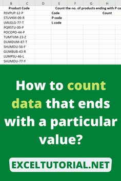 How to count data that ends with a particular value. . #Excel #microsoftexcel #Exceltutorial #Exceltutorials #Exceltutor #tutorialexcel #microsofttrainingexcel #microsoftexceltips #Excelformulas #Excelvba #Exceltips #Exceltipsandtricks #Excelvideo #Excelshorcuts Use Of Quotation Marks, Excel Formulas, Excel For Beginners, Data Entry, Question Mark, When You Realize, Microsoft Excel, Screwed Up, Getting To Know