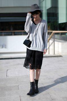 Grey sweater // in Asian style  | @printedlove