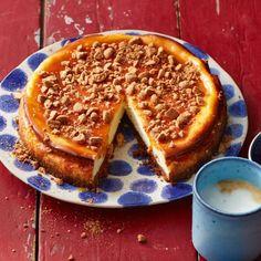 Kruidnotencheesecake met salted caramel