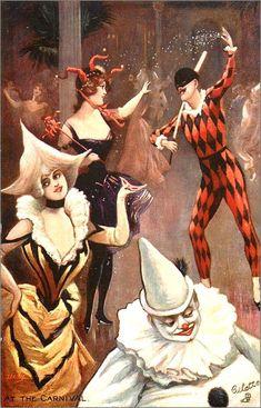 vintage carnaval - mardi-gras