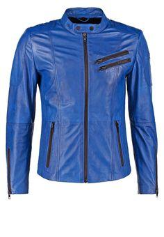 Freaky Nation DAVIDSON Kurtka skórzana deep blue 623.20zł #moda #fashion #men #mężczyzna #freaky #nation #davidson #kurtka #skórzana #deep #blue #męska #jesienna #wiosenna #niebieski #skóra