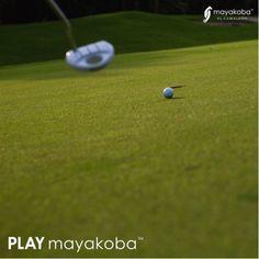 The final putt… Now we relax and cool off at #KOBARestaurant! #PLAYmayakoba #PGATOUR  #golf #putt #putting #golf #golfcourse #elcamaleón #mayakoba #hotel #luxury #golfing