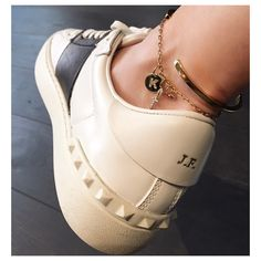 Valentino Sneakers and Customized Jennifer Fisher Anklet and Choklet...yes a Choker for your ankle
