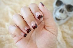 Blood dripping nails! Halloween Nail Art!