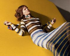 SOPHISTICATED STRIPES: Knit and stripe maxi dress from Missoni's spring-summer 2016 collection