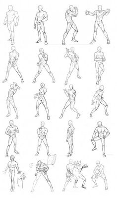Human Figure Drawing Reference male poses chart 01 by THEONEG on deviantART - Male Pose Reference, Body Reference Drawing, Drawing Reference Poses, Anatomy Reference, Drawing Tips, Hand Reference, Drawing Tutorials, Painting Tutorials, Male Figure Drawing