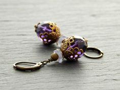Ohrringe - Lilac Flower von Perlenfontäne auf DaWanda.com