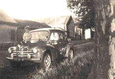 """For """"Wednesday nostalgia"""" a great shot with Gilbert R. sitting on the hood of the 4cv his father in 1965 ..."""