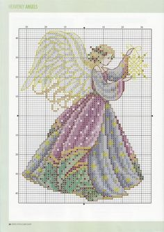 Angel, cross stitch