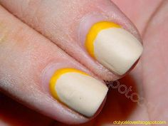 Day 18- Half Moons with Nude & Yellow datyorkLOVES