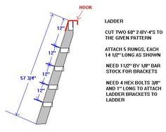 plans for the bunk bed ladder   diy ideas   pinterest   bunk bed
