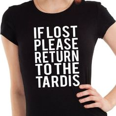 Getting Shirty If Lost Please Return To The TARDIS (Inspired by Doctor Who) Womens T-Shirt: Amazon.co.uk: Clothing