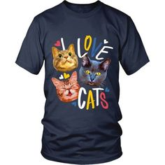If you are a person who love cats then this I love Cats is for you! Check more Cat t-shirts. If you want different color, style or have idea for design contact us support@teelime.com