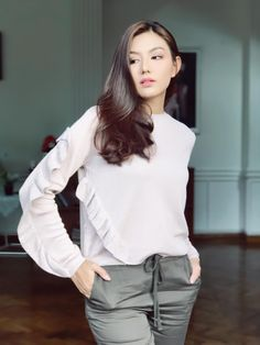 May Myint Mo Weekly Snaps Collection 1 Burmese Girls, The Selection, Ruffle Blouse, Actresses, Model, Beauty, Collection, Beautiful, Tops