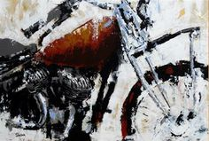 motorcycle. acrylic on canvas.