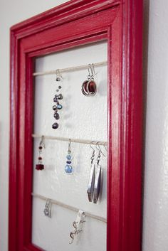 Jewelry Display Frames - Pottery Barn Knockoff