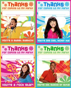 Keep the beat going even after the party guests go home with Fresh Beat Band thank you notes!