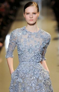 Floral Lace Dress. Elie Saab maybe.