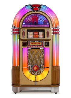 [ Overview ] You've never seen a jukebox like this before - or heard one like it either. The Crosley Slimline boasts all the power of a full-bodied jukebox - minus the massive cabinet. Sculpted with a