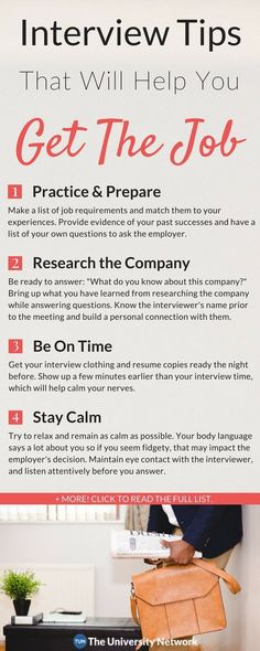 Career infographic : 6 Interview Tips That Will Help Get You The Job Job Interview Preparation, Interview Skills, Job Interview Questions, Job Interview Tips, Job Interviews, Job Interview Clothes, Preparing For An Interview, Job Resume, Resume Tips