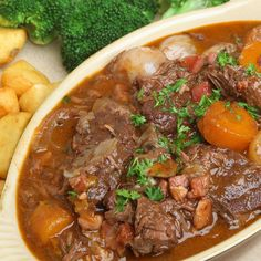 Beef stew can be a make ahead meal and is popular as a pot luck dish.. Beef and Vegetable Stew Recipe from Grandmothers Kitchen.