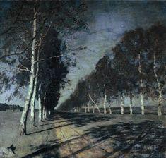 Moonlit Night. A Village., 1888, Isaac Levitan