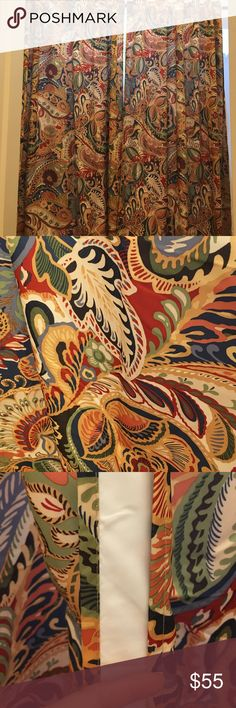 vibrant paisley curtain - pier one - possibly to replace my boring