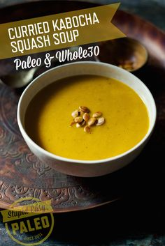 Curried Kabocha Squash Soup—Paleo & Whole30 | 3 lb (1361 g) kabocha ...
