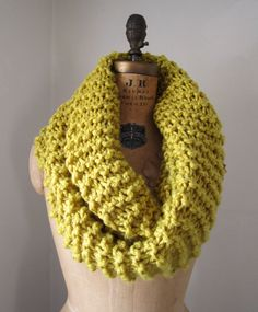 Super Snuggly Chunky knit cowl. I really want one like this in a cobalt blue!