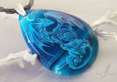 Lunar ocean dragon by AlviaAlcedo. This polymer clay could easily serve as the inspiration for pot-melted or raked glass beneath white decals Dragon Necklace, Dragon Jewelry, Magical Jewelry, Dragon Pictures, Wings Of Fire, Dragon Pendant, Cool Necklaces, Fantasy Jewelry, Dragon Art