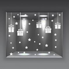 vetrofanie natale wall sticker adesivo vetrine negozio 64 pz neve pacchi stelle Diy Christmas Crafts To Sell, Grinch Christmas Decorations, Christmas Store, Simple Christmas, Christmas Tree Ornaments, Christmas Window Display, Theme Noel, Aliexpress Mobile, Boutique