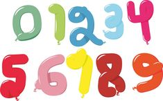 Free Image on Pixabay - Balloon, Numbers, 6 Free Pictures, Free Images, Typography Art, Lettering, Number Balloons, Author, Vector Graphics, Drawing Letters, Writers