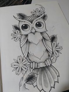 New Bird Tattoo Design Sketches Tatoo Ideas Pencil Sketch Drawing, Pencil Art Drawings, Bird Drawings, Animal Drawings, Owl Tattoo Drawings, Owl Tattoos, Tattoo Owl, Animal Sketches Easy, Cute Owl Tattoo