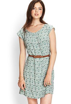 This is a fairly cute dress, and the print isn't so huge that I would feel like it would overwhelm my frame.  I think this would be cute in the fall with a cute tan cardigan and boots.