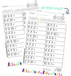 de multiplication à imprimer cm2 | tables de X | Pinterest ...