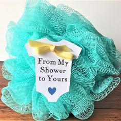 """From My Shower to Yours Baby Shower Favor Tags (2.5"""" Wide), White Baby Onesie Favor Tags, Soap/ Lufa/ Shower Gel Favor Tags #WeddingIdeasForKids"""
