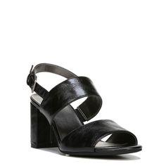 Lifestride Women's Chemistry Medium/Wide Dress Sandals (Black) - 7.5 M