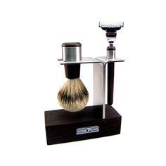 Wenge Wood & Stainless Steel Shaving Set