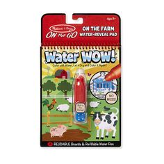 Melissa and Doug Water Wow! Farm Activities, Travel Activities, Color Activities, Simple Line Drawings, Travel Toys, Farm Toys, Melissa & Doug, Bound Book, Craft Projects For Kids