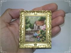 Little house in the forest, Miniature, doll House, cross stitch