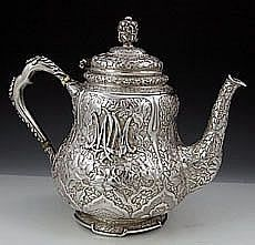Antique sterling teapot from the Mackay service