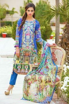 4c2400f300 Item Type: UN Stitched Three Piece, Shirt Fabric: Digital Printed  Embroidered Lawn, Includes: Front, Back, Sleeves, Crinkle Chiffon Digital  Printed Dupatta, ...