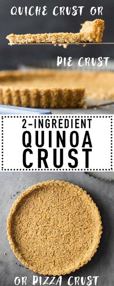 Crust This Quinoa Crust is both a naturally gluten free pie crust and a naturally vegan pie crust. It serves amazing as quiche crust and if made flat even as quinoa pizza crust. via Quinoa Crust is both a naturally gluten free pie crust and a natu. Quinoa Pizza Crust, Vegan Pie Crust, Gluten Free Pie Crust, Pie Crust Recipes, Gluten Free Baking, Vegan Gluten Free, Crust Pizza, Quiche Vegan, Gluten Free Vegan