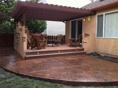 Stamped Concrete Patio Designs | Springs Concrete is the premier stamped concrete contractor in ...