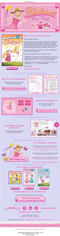 Sign up for the official Pinkalicious newsletter here: www.thinkpinkalicious.com/victoria