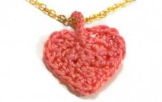crochet heart pendant