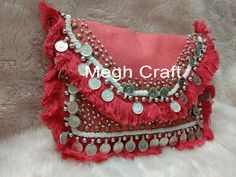 Exclusive Indian Handicrafts & Handmade Textiles by Indianbohoshop Best Leather Wallet, Boho Designs, Blouse Designs, Designer Clutch, Wedding Clutch, Fringe Bags, Handmade Purses, Boho Bags, Beaded Clutch