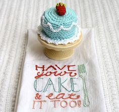 photos of happy birthday crocheted cake | one sheepish girl: A Crochet Birthday Cake Just For Me!