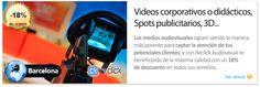 Servicios audiovisuales en la zona de Barcelona con Reclick Audiovisual descuento 18%