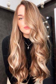 Trendy Hair Color : Caramel Brown Lowlights ❤️ If yo… Hair Color Highlights, Hair Color Dark, Blonde Color, Dark Hair, Dark Blonde Hair Pale Skin, Level 7 Hair Color, Caramel Hair With Blonde Highlights, Gold Blonde Hair, Golden Blonde